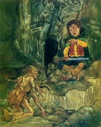 Bilbo e o Gollum